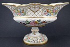 Rare Antique Donath Dresden Footed Bowl