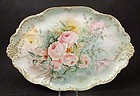 Antique Ahrenfeldt Limoges Dresser Tray with Roses
