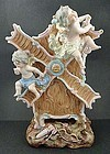 Delightful Antique German Bisque Figural Vase