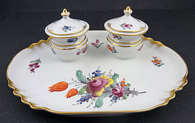 Charming Antique Nymphenburg Ink Well