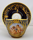 Magnificent Antique KPM Royal Berlin Tea Cup & Saucer