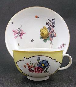 Rare Antique Meissen Tea Cup & Saucer, c.1725