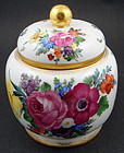 Beautiful Antique Lamm Dresden Biscuit Jar