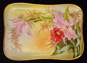 Pirkenhammer Footed Orchid Pin Tray by Putzki Studio