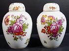 Antique Pair of E. Claus Paris Covered Vases
