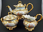 Superb Antique Donath Dresden 3 Piece Tea Set