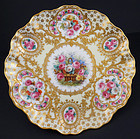 Gorgeous Antique Hirsch Dresden Cabinet Plate