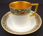 Charming Antique Nymphenburg Demitasse Cup & Saucer