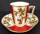 Antique Brownfields Aesthetic Demitasse Cup & Saucer