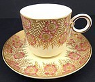 Antique Royal Worcester Demitasse Cup & Saucer