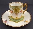 Dainty Antique Limoges Demitasse Cup & Saucer