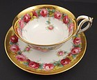 Antique Copeland Tea Cup & Saucer with Roses
