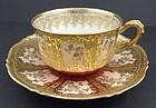 Superb Antique Coronet Limoges Tea Cup & Saucer