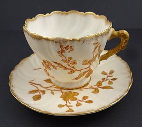 Antique American Belleek Tea Cup & Saucer