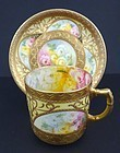 Antique Adderley Hand Painted Demitasse Cup & Saucer
