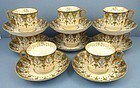 8 Antique Kornilov Demitasse Cups & Saucers