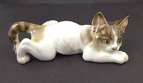 Adorable Rosenthal Crouching Kitten Figurine by Karner