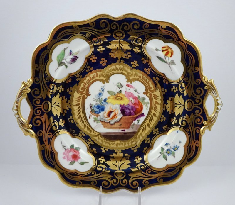 Antique English Hand Painted Serving Dish, c.1825