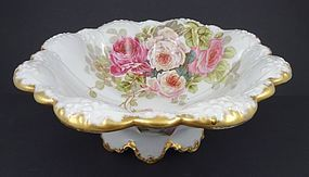 Antique Elite Limoges Bowl with Roses