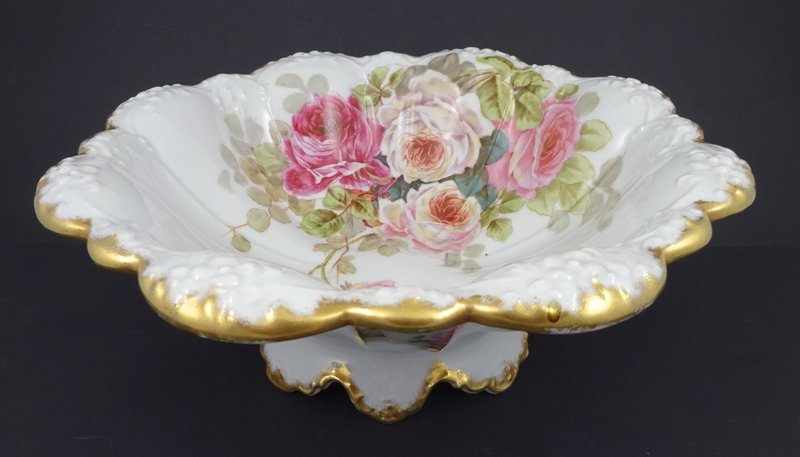 Antique Elite Limoges Bowl with Roses