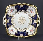Antique Coalport Square Serving Dish �Batwing� Pattern