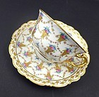 Antique Carl Thieme Dresden Tea Cup & Saucer