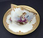 Antique Paris tea cup & saucer by Le Rosey