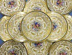 12 Delightful Antique Ahrenfeldt Limoges Luncheon Plates