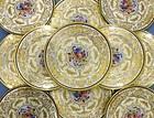 12 Delightful Antique Ahrenfeldt Limoges Luncheon Plates