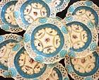 12 Exquisite Antique Sevres Style Royal Worcester Cabinet Plates