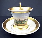 Antique Nymphenburg Topographical Cup & Saucer