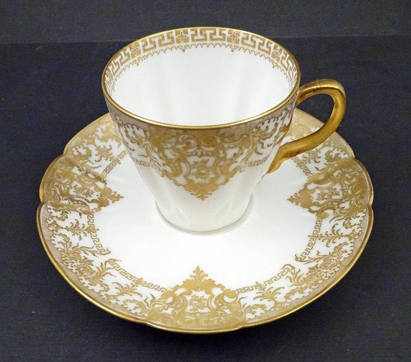 11 Elegant Antique Haviland Limoges Chocolate Cups & Saucers