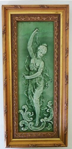 Victorian Framed Tile with Classical Woman