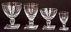 Fine Orrefors Crystal Stemware, 1950's Style, 48 pcs