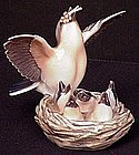 Adorable Dahl-Jensen Birds in Nest Figurine