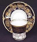 Fine Theodore Haviland Cobalt Chocolate Cup & Saucer