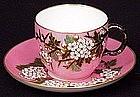 Rare Japanese Style Coalport Cup & Saucer, C. 1870