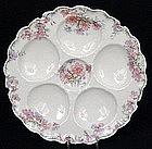 Lovely Haviland Limoges Oyster Plate, Pastel Colors