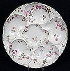Beautiful Haviland Limoges Oyster Plate, Rosebuds
