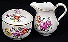 Beautiful 1st Quality Meissen Sugar Bowl Cream Pitcher