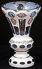 Lovely Bohemian Enameled Overlay Vase