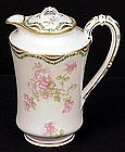 Lovely Haviland Limoges Chocolate Pot, Apple Blossoms