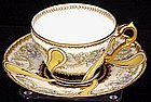 Rare Haviland Limoges Cup and Saucer, Sevres Style