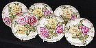 6 GDA Limoges Dessert Plates with Roses