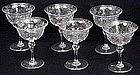 6 Beautiful Webb Engraved Crystal Champagne Glasses