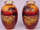 Beautiful Pair of Royal Doulton Vases with Sheep