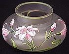 Art Nouveau Enamel Bohemian Cabinet Vase