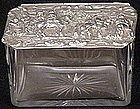 Continental Silver and Glass Hinged Box