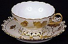 Fine Pirkenhammer Reticulated Cup and Saucer