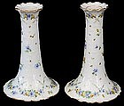 Delicate Pair Klemm Dresden Candle Holders